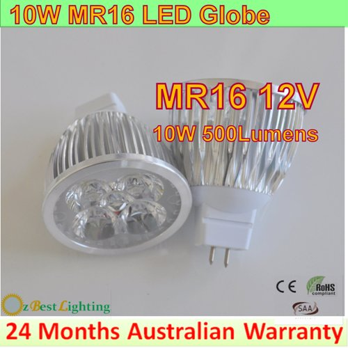 12 x 10W 12V MR16 LED downlight bulb