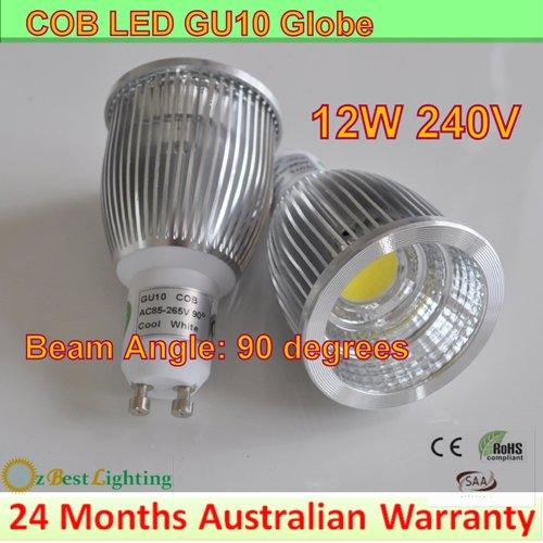 4 X 12W 240V GU10 COB LED downlight globe