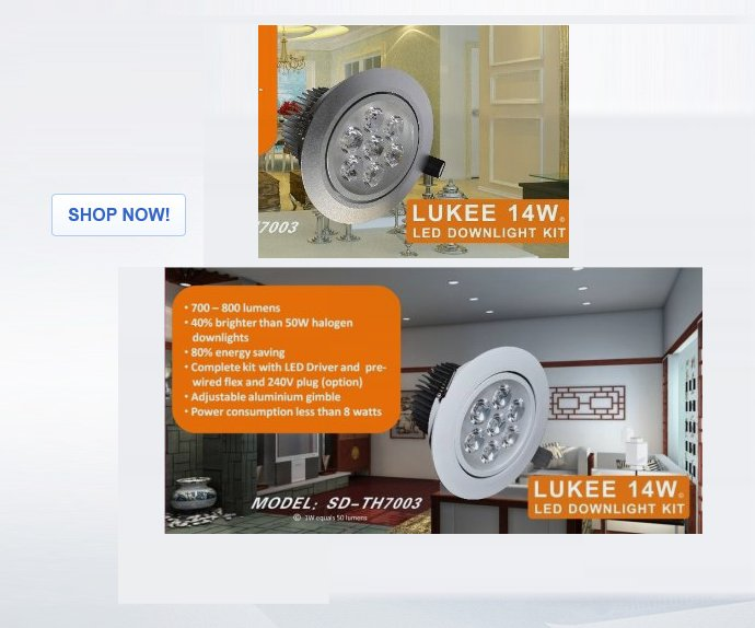14W LED Downlight Kit
