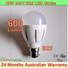 4 x 10W 240V B22 Warm White LED downlight bulb