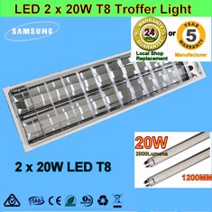 2x20W LED T8 Troffer Light