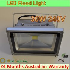 30W 240V COB LED Waterproof Outdoor Flood Light - Cool White