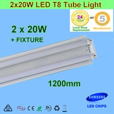 Double 20W 1.2m LED T8 Tube Light with Reflector