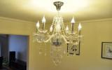 Clarins 6 Arms Crystal Chandelier Light