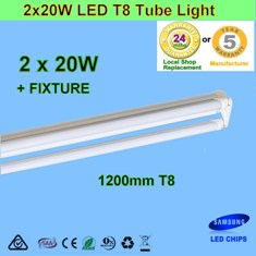 Double 20W 1.2m LED T8 Tube Light