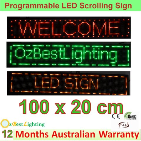 LED Programming Signs