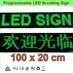 Green LED Programming Signs