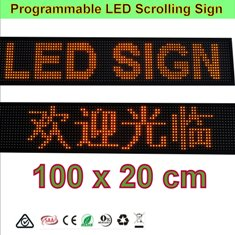 Orange LED Programming Signs