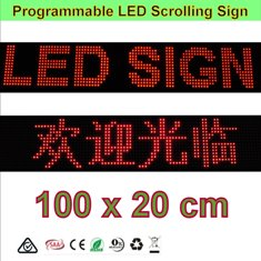RED LED Programming Signs