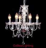 Orion 5 Arms Crystal Chandelier Light