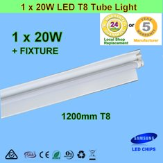 20W 1.2m LED T8 Tube Light with Reflector
